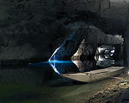 The underground lake of Saint-Léonard