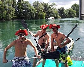 Schlauchboot-Tour von Biel nach Erlinsbach bei Aarau